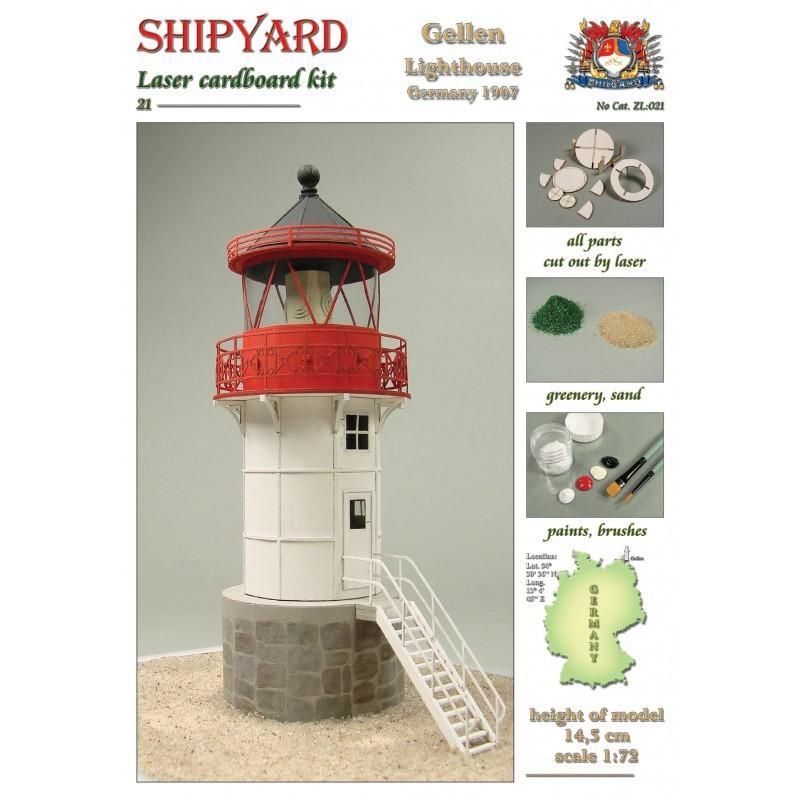 Gellen Lighthouse Laser Cardboard Kit (Shipyard 1:72)