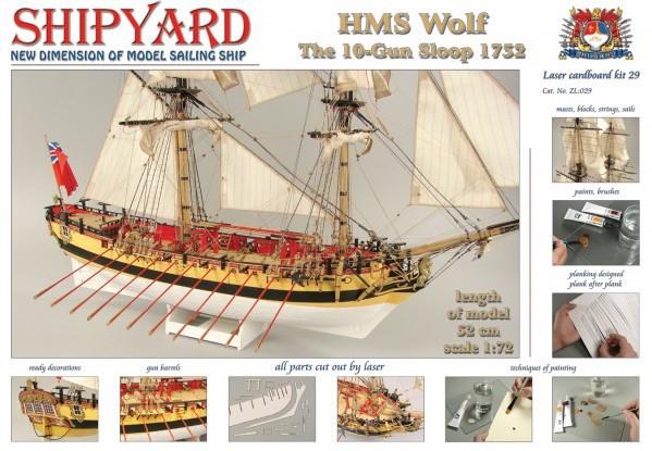 HMS Wolf Laser Cardboard Kit