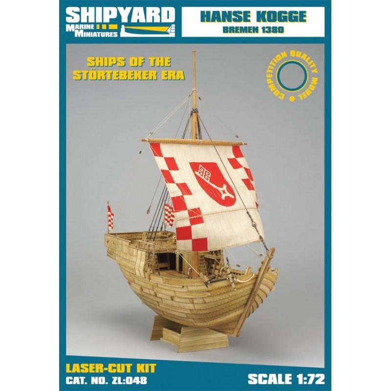 Hanse Kogge – Laser Cardboard Kit (Shipyard 1/72)