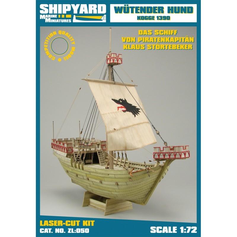 Wütender Hund, Kogge – Laser Cardboard Kit (Shipyard 1/72)
