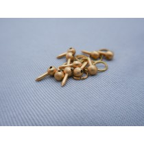 Brass Ring Bolt, 4mm (10/pk, AM4005/04)