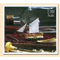 Golden Yacht Ship-in-a-Bottle Kit (Amati, 1:300)