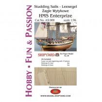 HMS Enterprize - Studding Sails (Shipyard 1:96)
