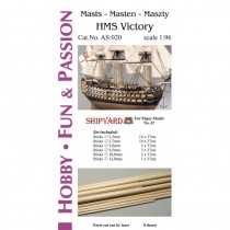 HMS Victory Masts and Yards Accessoriesc(Shipyard 1:96)