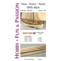 HMS Alert Masts and Yards Accessories (Shipyard 1:96)