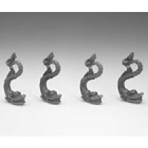 Plastic Mounting Dolphins (4/pk, AM5686)
