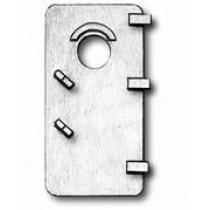 Cast Doors w/Porthole (13x25mm, AM4939/25)