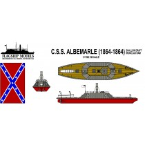 CSS Albemarle, Shallow Draft Ironclad (1:192, Flagship Models)