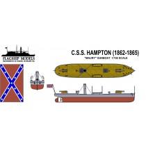 CSS Hampton, Maury Gun Boat (1:192, Flagship Models)