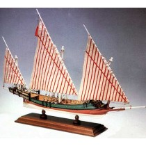 Greek Galliot (Galley) Privateer - Amati Wooden Model Ship Kit AM1419