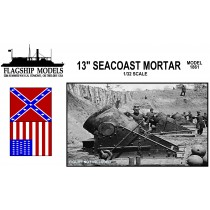 "13"" Seacoast Mortar (1:32, Flagship Models)"