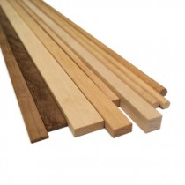 Walnut Wood Strips 6mm x 6mm (10/PK, AM2410/06)