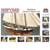Schooner Berbice (Laser Cardboard 1:72, Shipyard)