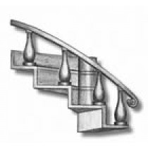 Curved Companionway L/H with Handrail (AM4324/02)