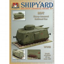 Armored Railroad Car Paper Kit (Shipyard 1:96)