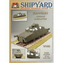 Armored Railroad Car Paper Kit (Shipyard 1:25)