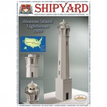 Alcatraz Lighthouse Laser Cardstock Kit (Shipyard 1:72)