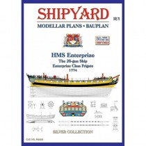 HMS Enterprize Modellar Plans (1:72, Shipyard)