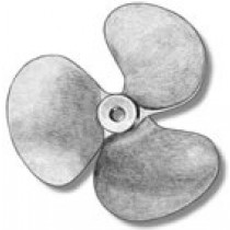 3 Bladed Bronze Propeller, Left Hand (20mm, AM4828/20)