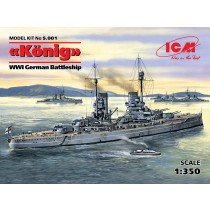 WWI German Konig Battleship (ICM, 1:350)