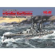 WWI German Grosser Kurfurst Battleship (ICM, 1:350)