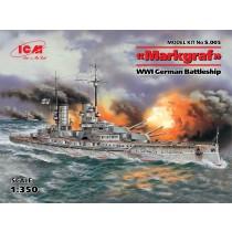 WWI German Markgraf Battleship (ICM, 1/350 )