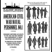 US Civil War Naval Personnel No.1 (Flagship 1:192)