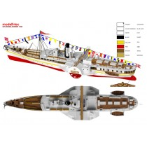 Skibladner Paddle Steamer (Turk, 1:60)