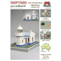 Crowdy Head Lighthouse Laser Cardboard Kit (Shipyard 1:72)