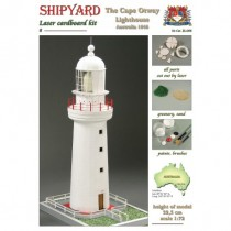Cape Otway Lighthouse Laser Cardboard Kit (Shipyard 1:72)