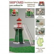 Bunthäuser Spitze Lighthouse Laser Cardboard Kit (Shipyard 1:72)