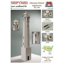 Alcatraz Island Lighthouse Laser Cardboard Kit (Shipyard 1:72)