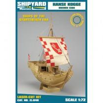 Hanse Kogge – Laser Cardboard Kit (Shipyard 1:72 Scale)