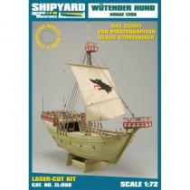 Wütender Hund, Kogge – Laser Cardboard Kit (Shipyard 1:72 Scale)